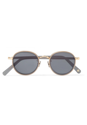 Gifford Round-frame Acetate And Gold-tone Sunglasses