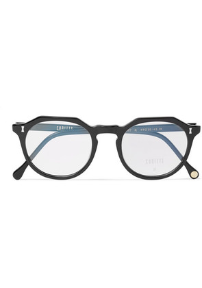 Cubitts - Cartwright Round-frame Acetate Optical Glasses - Black
