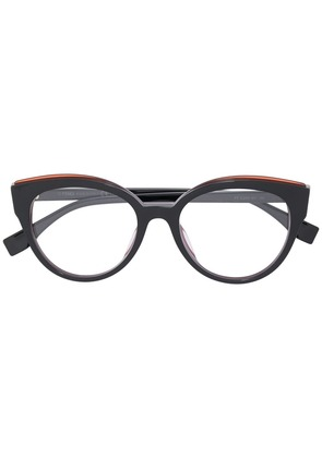 Fendi Eyewear cat eye glasses - Black