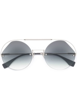 Fendi Eyewear Ribbons & Crystals sunglasses - Silver