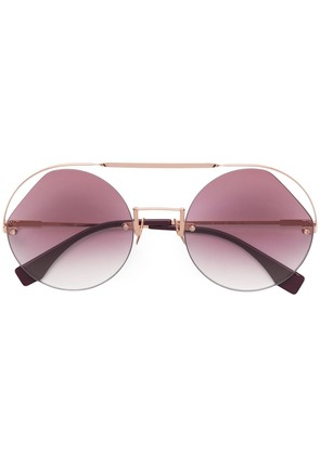 Fendi Eyewear Ribbons & Crystals sunglasses - Gold