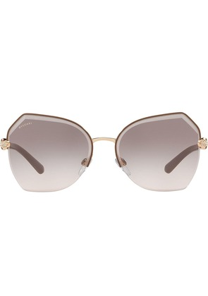 Bulgari faceted trim sunglasses - Metallic