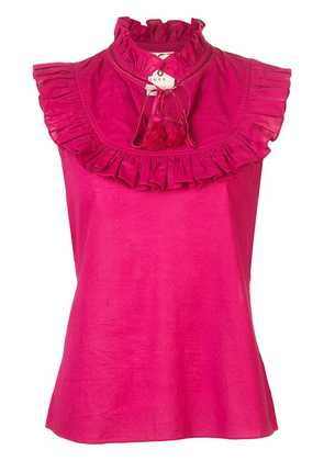 Figue Lila bib blouse - Pink