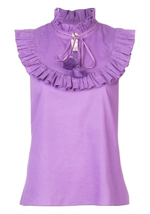 Figue Lila bib blouse - Purple