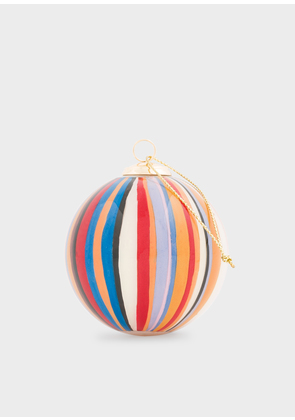 Hand-Painted Signature Stripe Glass Bauble