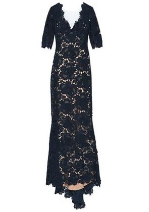 Catherine Deane Woman Corded Lace Gown Navy Size 10
