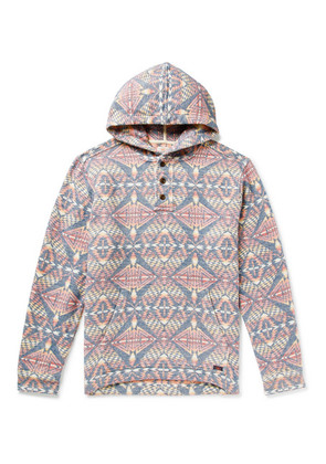 Faherty - Pacific Organic Brushed Cotton-jacquard Hoodie - Multi