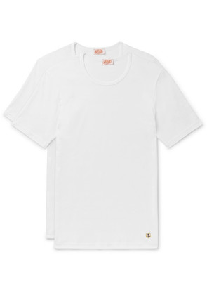 Armor Lux - Two-pack Cotton-jersey T-shirts - White