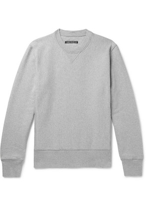 Fabric-Brand & Co - Loopback Cotton And Linen-blend Jersey Sweatshirt - Gray