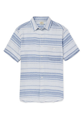 Faherty - Ventura Striped Cotton Shirt - Blue