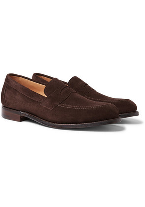 Cheaney - Hadley Suede Penny Loafers - Brown