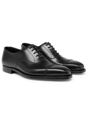 George Cleverley - Charles Cap-toe Leather Oxford Shoes - Black