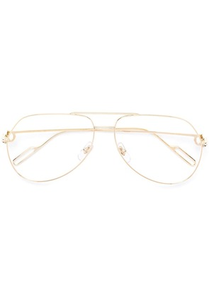 Cartier aviator shaped glasses - Gold