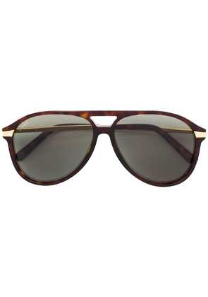 Cartier aviator shaped sunglasses - Brown