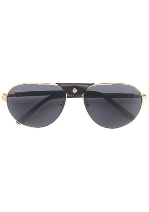Cartier aviator shaped sunglasses - Gold