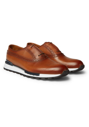Fast Track Leather Brogue Sneakers
