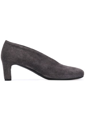 Del Carlo round toe pumps - Grey