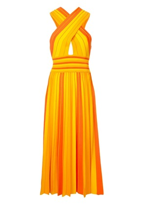 Carolina Herrera striped halterneck dress - Orange