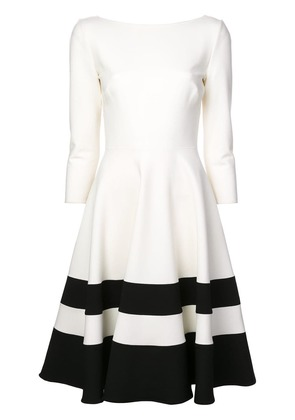 Carolina Herrera striped hem skater midi dress - Black