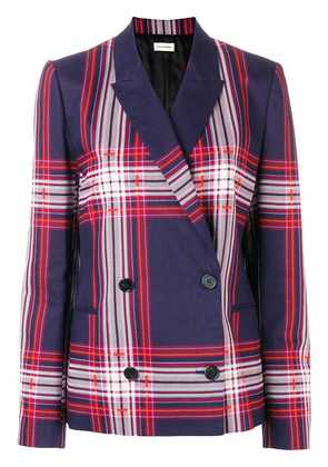By Malene Birger plaid double breasted jacket - Blue