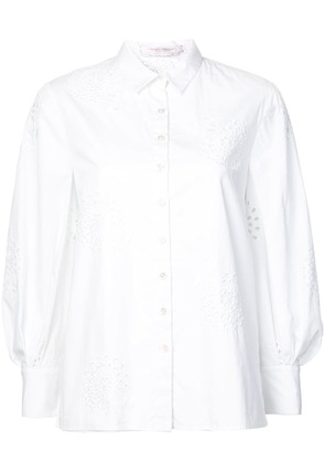 Carolina Herrera floral embroidered shirt - White