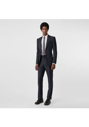Burberry Classic Fit Check Wool Three-piece Suit, Blue