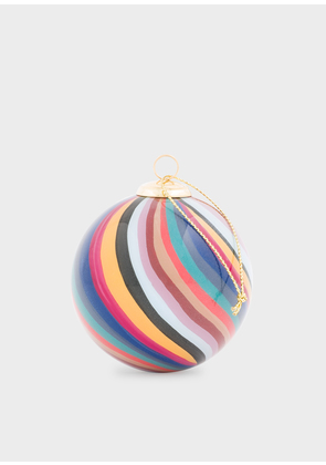 Hand-Painted Swirl Glass Bauble