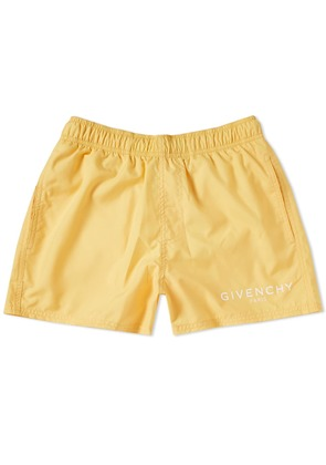 Givenchy Logo Swim Short Yellow