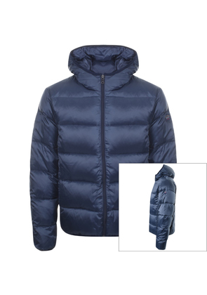 8b5a114be303 Paul And Shark Full Zip Quilted Hooded Jacket Navy
