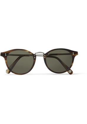 Cubitts - Flaxman Round-frame Tortoiseshell Acetate And Silver-tone Sunglasses - Green