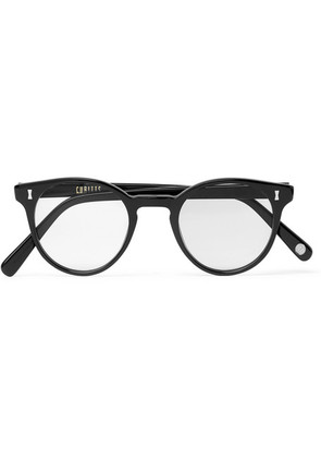 Cubitts - Round-frame Acetate Optical Glasses - Black