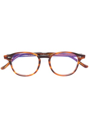Cutler & Gross round printed frame glasses - Brown