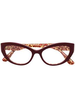 Dolce & Gabbana Eyewear cat-eye glasses - Red
