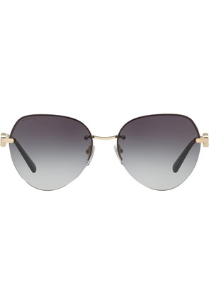 Bulgari aviator sunglasses - Metallic
