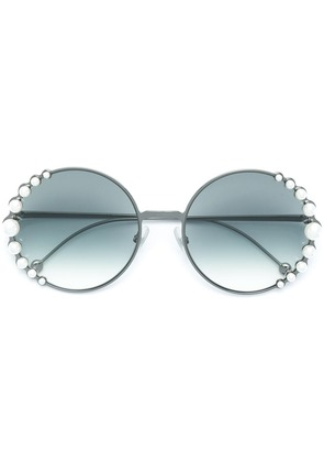 Fendi Eyewear Ribbons and Pearls sunglasses - Black