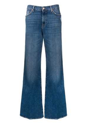 7 For All Mankind faded wide-leg jeans - Blue