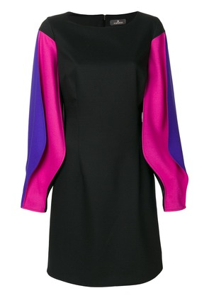 Capucci puffy longsleeved fitted dress - Black