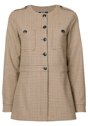 A.P.C. fitted check jacket - Brown