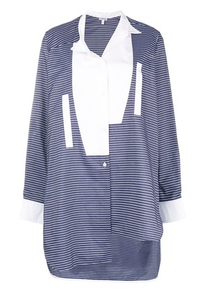 Loewe asymmetric striped shirt - Blue