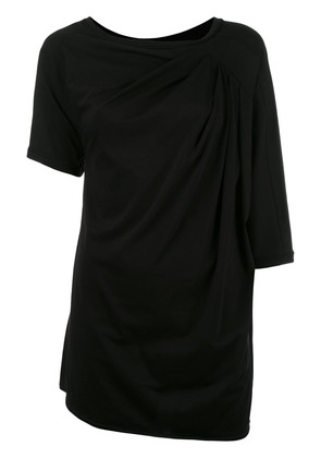 Loewe asymmetric shoulder blouse - Black