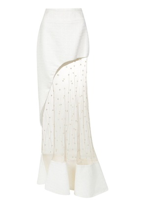 Andrea Bogosian tulle panel skirt - White