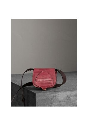 Burberry The Pocket Satchel in Lizard, Red