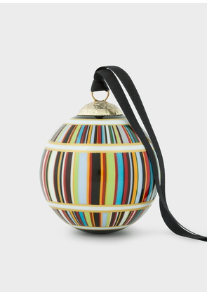 Signature Stripe Bone China Bauble