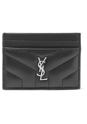 Saint Laurent - Quilted Textured-leather Cardholder - Black