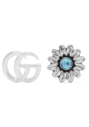Gucci - Marmont Silver-tone Multi-stone Earrings - one size