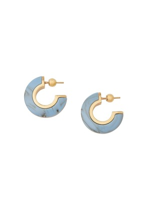 Burberry Marbled Resin Gold-plated Hoop Earrings - Blue