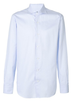 Barba classic fitted shirt - Blue