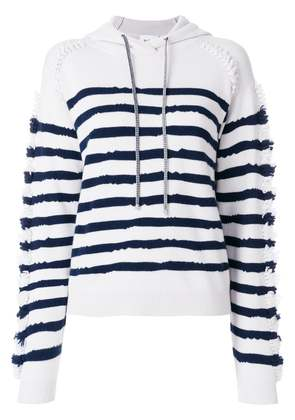 Barrie striped hooded sweatshirt - Grey