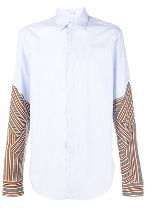 Loewe contrasting striped shirt - Blue