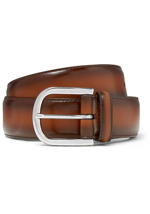 Anderson's - 3.5cm Brown Burnished-leather Belt - Brown